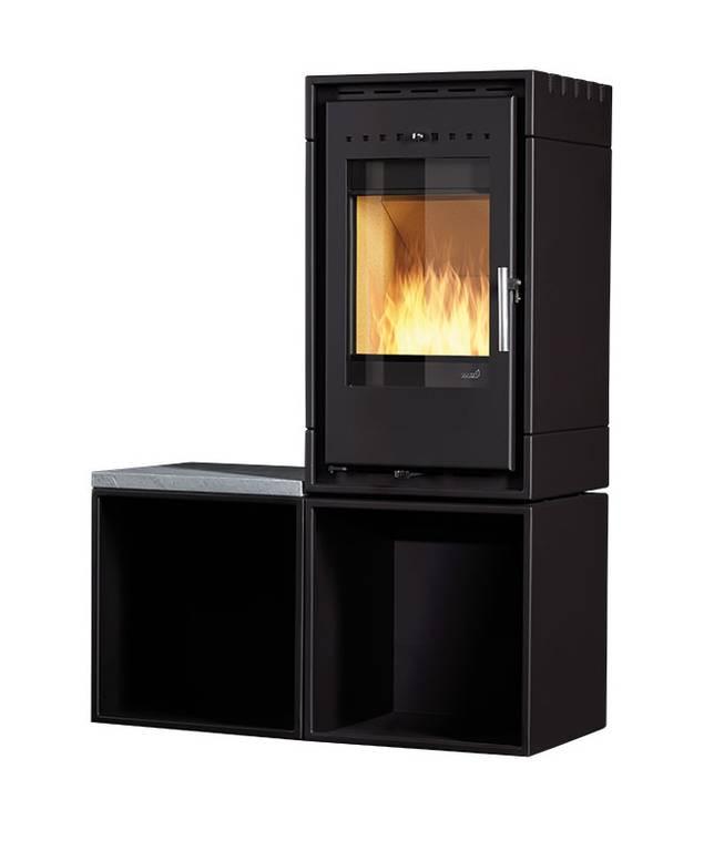 kaminofen hark 127 mit bank kaminbau gmbh. Black Bedroom Furniture Sets. Home Design Ideas
